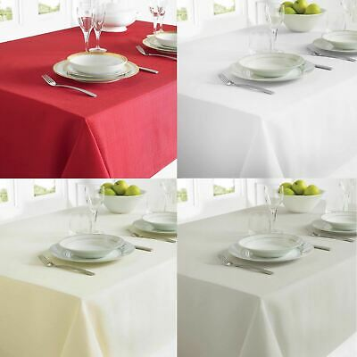 Country Club Linen Look Tablecloth For Dining Table Protect Cover Fabric Stylish