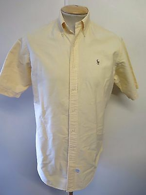 Ralph Lauren POLO men's Yellow Short Sleeve Casual Shirt Size S 34-36 Euro 44-46