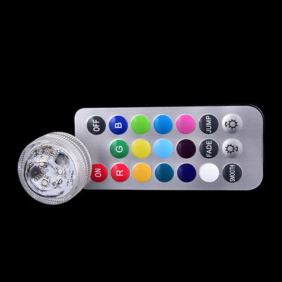 submersible light 3 led battery waterproof pool pond lighting remote control  Vv