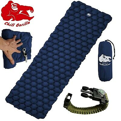 Chill Gorilla Ultralight Sleeping Pad - Inflatable Camping Mat for Backpackin...