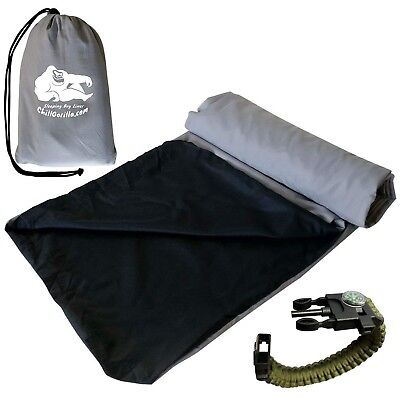 Chill Gorilla Travel & Camping Sheet Sleeping Bag Liner for Warmth Comfort & ...