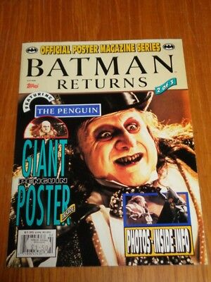Batman Returns Official Poster Magazine Series #2 Us Magazine =