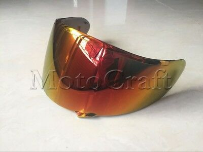 Golden red Visor for Shoei CW-1 X12 RF-1100 XR-1100 X-SPIRIT2 X-12 Qwest