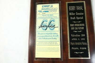 BOBBY RAHAL Signed Autographed COA Vintage 1992 Indy Car 200 Limited Edition