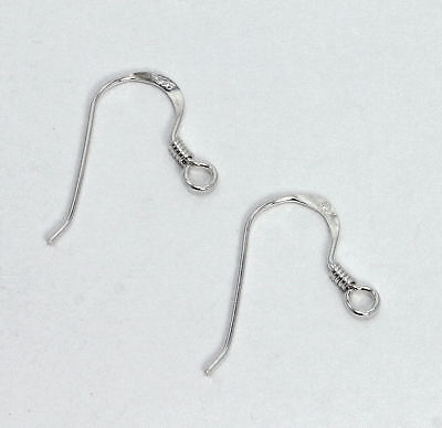 925 Sterling Silver Ear Wire Hooks with Spring Earring Fishhook