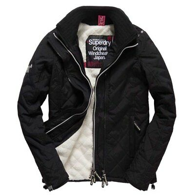 Superdry Sherpa Quilted Windcheater Negro , Abrigos y parkas Superdry , moda