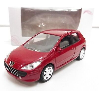 """PEUGEOT 307 Rouge 1/64 """"3 Inche"""" Norev Diecast Neuf Boite"""