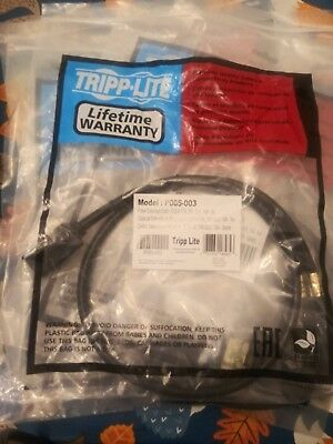TRIPP LITE. C13 to C14 3ft Power Cords. Model P005-003, Black, 15A, 14awg
