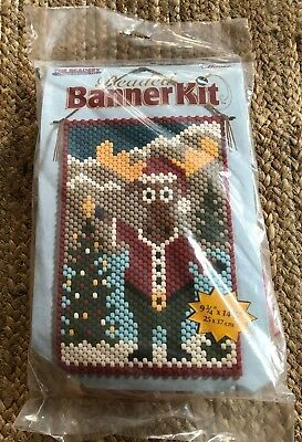 Moose Beaded Banner Kit NEW #5185 THE BEADERY Craft Products