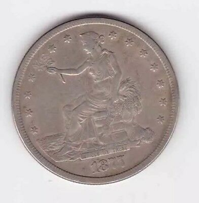 1877 S United States  Silver Trade Dollar