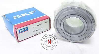 """SKF 5206-A-2Z ANGULAR CONTACT BEARING, 30mm x 62mm x .9375"""", FIT C0, 25° CONTACT"""