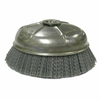 "Weiler 14156 6"" Reverse Nut Abrasive Nylon Cup Brush 0.040/120, 5/8""-11 A.H."
