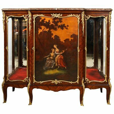 Francois Linke, a French Ormolu and Vernis Martin Vitrine Commode Cabinet