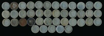 41 Old Liberty Nickels (Odd Lot Mixed Dates)  > See Images >  No Reserve