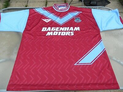 c82bba2f1a6 PONY WEST HAM United Home Shirt 1993-95 Xl Mens Excellent Condition ...