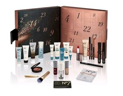No 7 Boots 2018 Advent Calendar including makeup gifts & beauty items worth £177