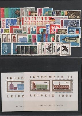 Germany East DDR Jahrgang yearset 1965 postfrisch MNH ** komplett complete