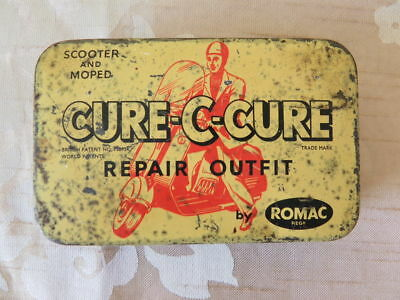 Cure C Cure Tin advertising Scooter and Moped Repair outfit Romac England 1960's