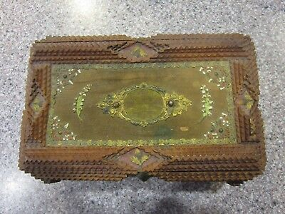 Vintage Tramp Art Wood Box