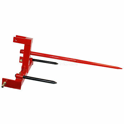 """Titan Category 1 Tractor 3 Point Attachment w/43"""" Hay Spear & 2 17"""" Stabilizers"""
