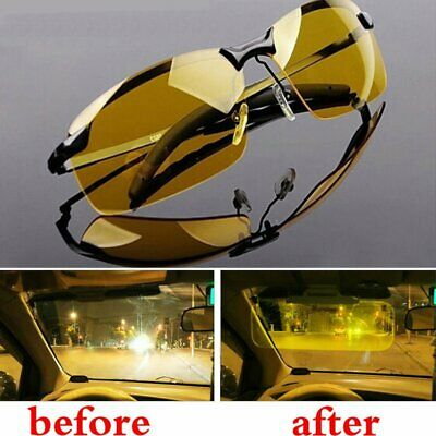 HD Night Driving Glasses Polarized Yellow Lens Anti Glare Vision  Tinted Unisex
