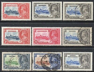 COMMONWEALTH 1935 Small Silver Jubilee collection mint and used