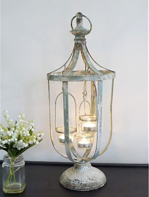 Extra Large Lantern Tea Light Candle Holder French Vintage Style Shabby Chic