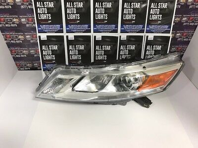 "2012 2013 2014 2015 Honda Crosstour Oem Left Headlight Halogen Bare ""chrome"""