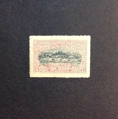 NEW HEBRIDES 1897 AUSTRALIAN COMPANY LOCAL POST 1D Mint Hinged