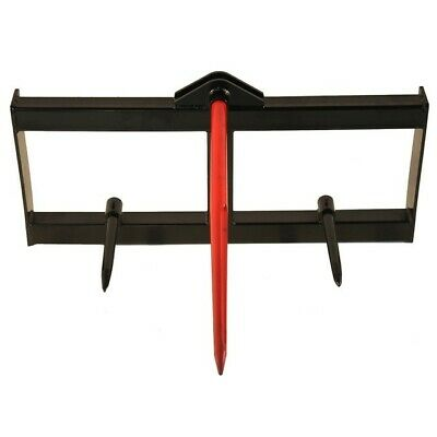 """49"""" Tractor Hay Spear Attachment 3,000 lb Spike Skid Steer Quick Tach Bobcat"""