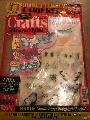 **LAST ONE** MAY 18 Crafts Beautiful Magazine  + 44 Piece 3D Butterfly Card Kit