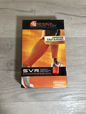 e8f11a94c9cd7b Support & Protective Gear PAIR Shock Doctor 725 SVR Recovery Compression  Calf Sleeves Clothing & Accessories