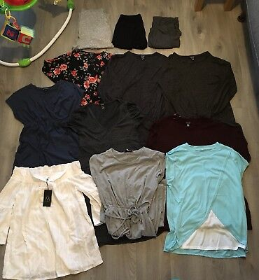 Lovely 12 Piece Maternity And Breastfeeding Clothes Bundle Size 10/12