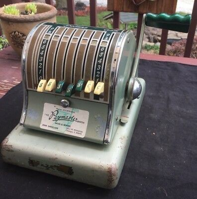 Paymaster check writer s 600 ~ 8 Column Vintage Working Antique