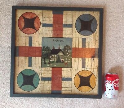 Vintage American Folk Art Gameboard Hand Painted Signed WAGAMAN Lancaster County