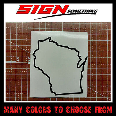 Wisconsin State Outline Decal, Sticker