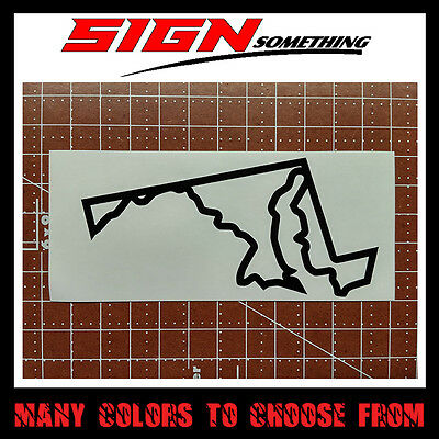 Maryland State Outline Decal, Sticker