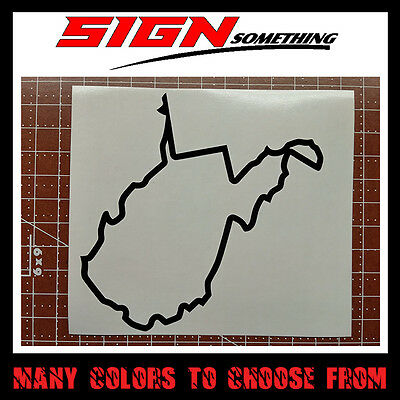 West Virginia State Outline Decal, Sticker