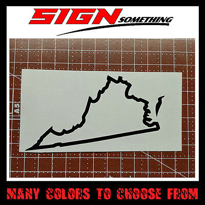 Virginia State Outline Decal, Sticker