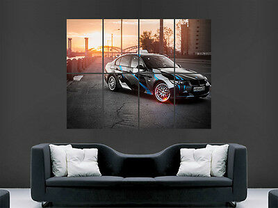 Bmw E90 Coupe 3 Series Car Poster Sunset Camo Wall Art Print Image