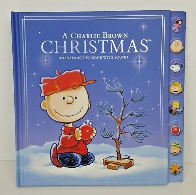 Hallmark A Charlie Brown Christmas Interactive Book with Sound 2010 NEW
