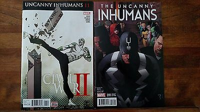 UNCANNY INHUMANS #11 COVER A and B VARIANT SET, 1st MOSAIC, NM! UNREAD!