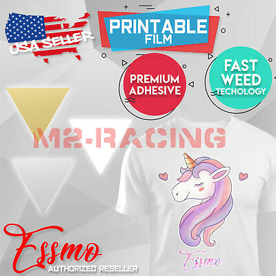 "Essmo™ Printable Heat Transfer Vinyl HTV TShirt 20"" Iron Heat Press Easy To Weed"