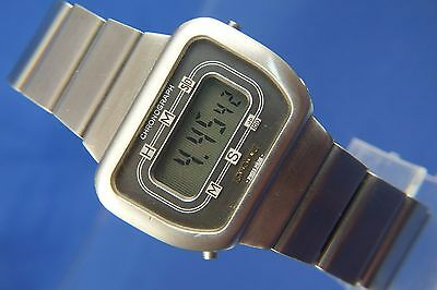 Vintage Retro Longines Quartz LCD Digital Watch Circa 1970s ESA 942711