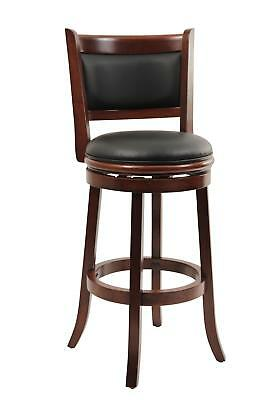 "Augusta Swivel Stool Cherry 19.5""D x 18""W x 43.5""H"