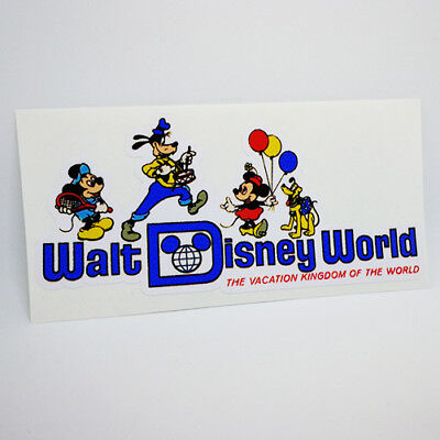 Walt Disney World Decal / Vintage Style Vinyl Travel Sticker, Luggage Label
