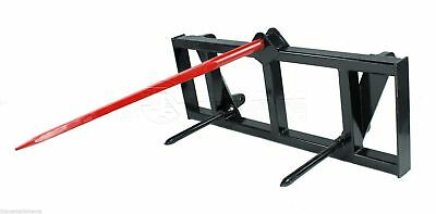Hay Spear Attachment for Global Euro Carrier Quick Tach Mount tractor Deere