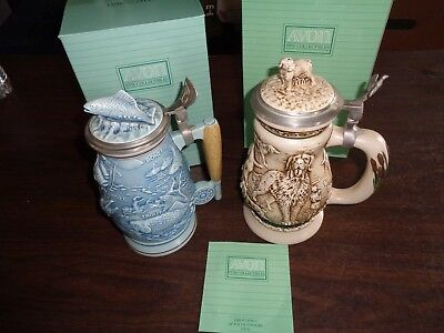 Avon Stein Lot Of 2 Great Dogs Of The Outdoors And Fishing Beautiful