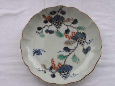 Antique Japanese Imari plate with grapes 1780-1810 handpainted #4278