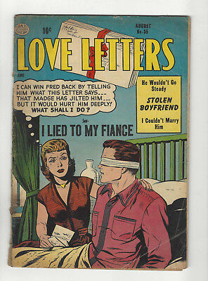 Love Letters #35 Quality Pre-code Romance comic 1954 Golden Age